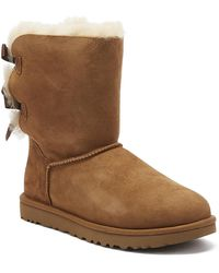 UGG UGG Womens Chestnut Bailey Bow Ii Sheepskin Boots - Brown