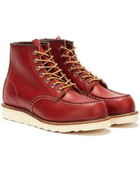 Red Wing Red Wing 6-inch Moc Oro Russet Portage Shoes Toe Boots - Brown