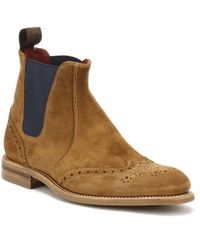 Loake | Mens Tan Suede Hoskins Boots | Lyst