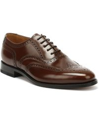 Loake Mens Brown 202t Brogue Leather Shoes