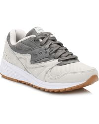 Saucony Grey Grid 8000 Trainers - Gray