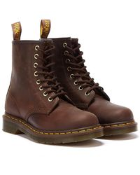 Dr. Martens 1460 Crazy Horse Boots - Brown