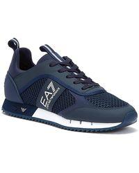 Emporio Armani Ea7 Xk050 / White Trainers - Blue