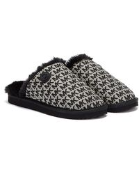 Michael Kors Janis Jacquard Logo Womens Black Slippers