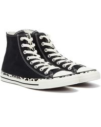 Converse All Star Edged Archive Leopard Hi / Cream Sneakers - Black