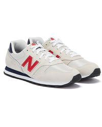 373 / Navy / Red Trainers