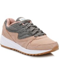 Saucony Salmon/charcoal Grid 8000 Sneakers - Gray