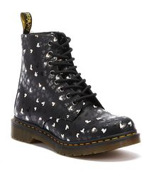 Dr. Martens Dr. Martens 1460 Pascal Backhand Hearts Womens Black Boots