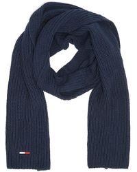 Tommy Hilfiger Tommy Jeans Basic Rib Echarpe Marine Pour - Bleu