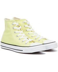 Converse All Star Hi Hellgelbe Sneakers