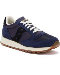 Saucony Jazz Vintage Suede Mens Navy / Black Sneakers - Blue