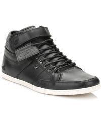 Boxfresh - Box Fresh Mens Black Swich Premium Leather Trainers - Lyst