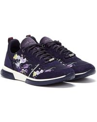 Ted Baker Ceyyas Womens Navy Trainers - Blue