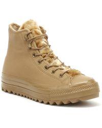 Converse All Star Lift Ripple Womens Teak Brown Hi Sneakers