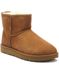 UGG UGG Womens Chestnut Classic Mini Ii Sheepskin Boots - Brown