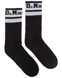 Dr. Martens Dr. Martens Athletic Logo Cotton Blend / White Socks - Black