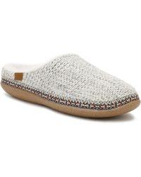 TOMS - Womens Birch Beige Sweater Knit Ivy Slippers - Lyst