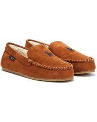Ralph Lauren - Dezi Iv Mens Brown / Navy Slippers - Lyst