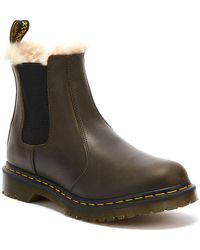 Dr. Martens Dr. Martens 2976 Leonore Orleans Womens Olive Brown Boots