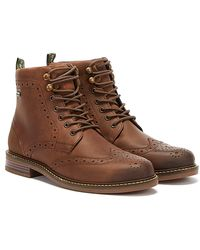 Barbour Seaton Mens Brown Boots