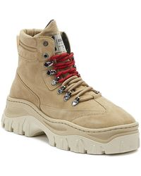 Bronx Jaxstar Womens Cappuccino Tan Platform Hiker Boots - Brown