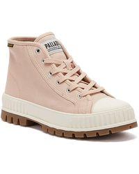 Palladium Pallashock Mid Og Womens Rose Dust Boots - Pink