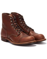 Red Wing Iron Ranger Amber Boots - Brown
