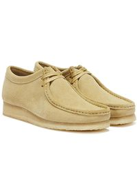 Clarks Wallabee Mens Maple Shoes - Natural