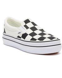 Vans Super Comfycush Slip-on Womens Black Checkerboard Sneakers