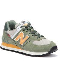 New Balance 574 Celadon / Habanero Sneakers - Multicolour
