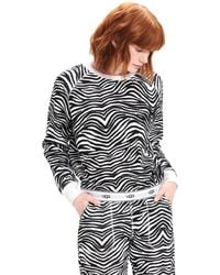 UGG Nena Zebra / White Sweater - Black