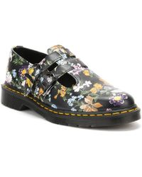 Dr. Martens | Dr. Martens Womens Black Darcy Floral Backhand 8065 Shoes | Lyst