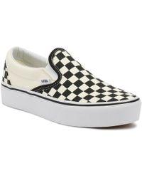 Vans Checkered Slip-on Sneaker - Black