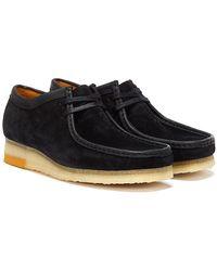 Clarks Wallabee Combi Schwarz Schuhe