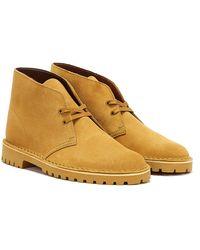 Clarks Desert Rock Suede Oakmoss Boots - Brown