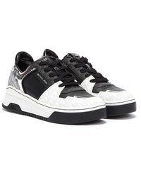Michael Kors Lexi High Top Women / Silver Sneakers - Black