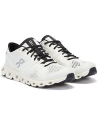On Running Cloud X Mens White / Black Trainers
