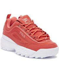 Fila Disruptor Ii Spring Pack Shift Split Womens Pink Glo Trainers