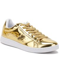 Ellesse - Womens Antique Gold Anzia Metallic Trainers Women's In Gold - Lyst