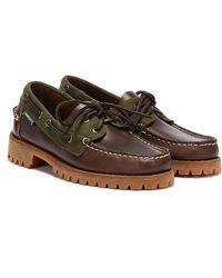 Sebago Ranger Millerain Dunkelbraune Leder Schuhe
