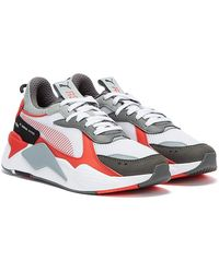 PUMA Rs-x Toys Mens White / Poppy Red / Quarry Trainers