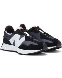 New Balance 327 Mens Black / Grey Sneakers