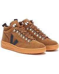 Veja Roraima Suede Braun / Schwarz Sneakers