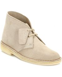 Clarks - Womens Sand Desert Suede Boots - Lyst