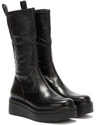 Vagabond Tara Leather Long Boots - Black