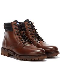 Tommy Hilfiger Tommy Jeans Classic Short Lace Up Braune Stiefel