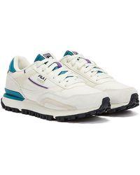 Fila - Mane Unisex White / Teal / Purple Trainers - Lyst