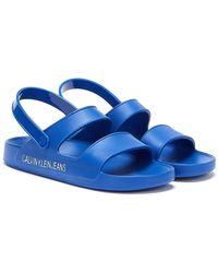 Calvin Klein Prisca Womens Blue Sandals