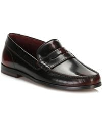 Ted Baker - Mens Dark Red Rommeo Loafers - Lyst