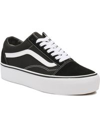 Vans Old Skool Platform Sneakers - Black
